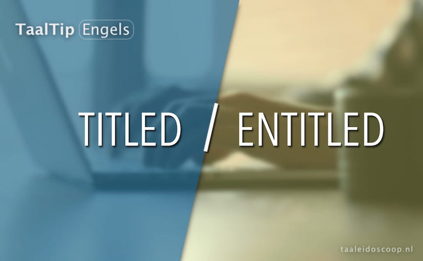 Titled vs. entitled