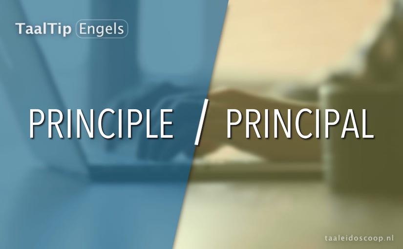 Principle vs. principal