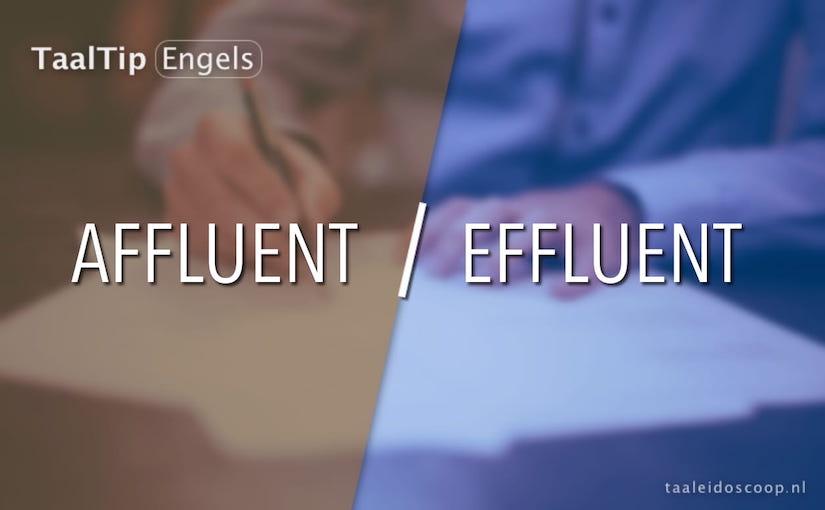 Affluent vs. effluent