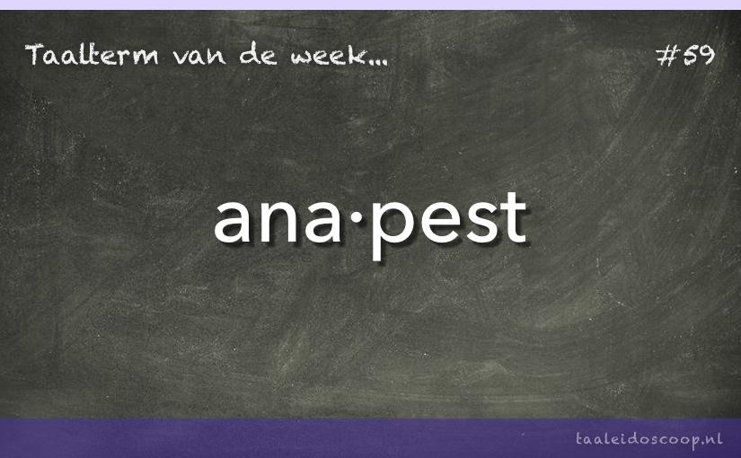 Taalterm van de week: Anapest
