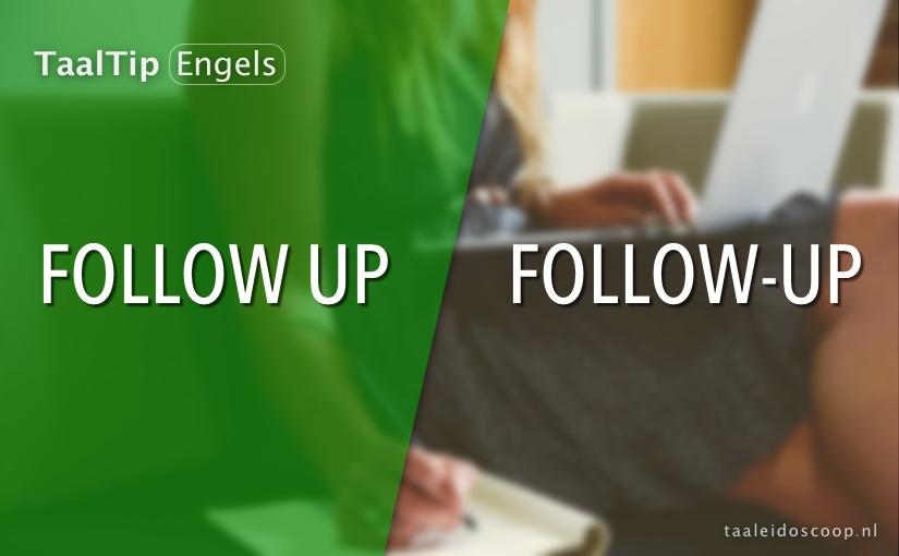 Follow up vs. follow-up