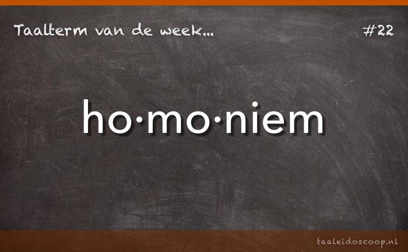 TVDW: Homoniem
