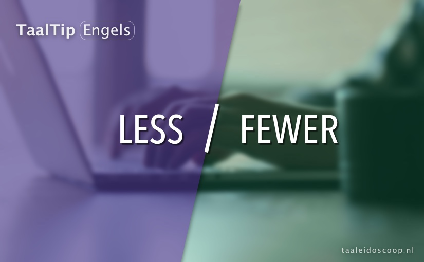 Less vs. fewer