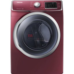 Samsung front-load electric dryer offers a 7.5 cu.ft. capacity. This dryer features 13 dry cycles, steam option, filter check indicator and a drying rack. http://www.taappliance.com/en/catalog/product/189166-Samsung-DV42H5600EF?searchterm=Red