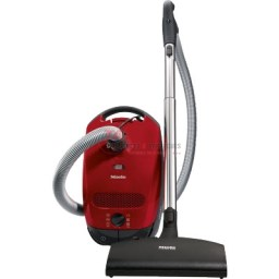 Miele Classic C1 Series canister vacuum featuring a six-step rotary dial, a compact light-weight design that is easy to store in small spaces, Active AirClean charcoal filter, and a dustbag change indicator. This vacuum cleaner is perfect for pet owners and low and medium pile carpets, area rugs, and hard floors. http://www.taappliance.com/en/catalog/product/266729-Miele-Classic-C1-Cat-Dog?searchterm=Red