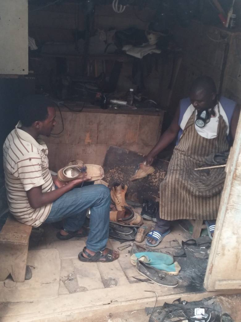 Peasant Who abandoned farming to start a shoe business