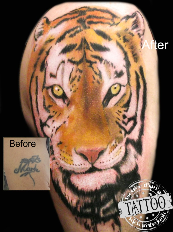 Cover-up Tiger