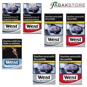 Alle West Zigaretten Sorten im überblick
