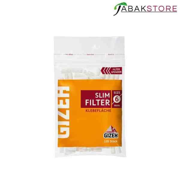 Gizeh Slim Filter 6x15mm 120er pack