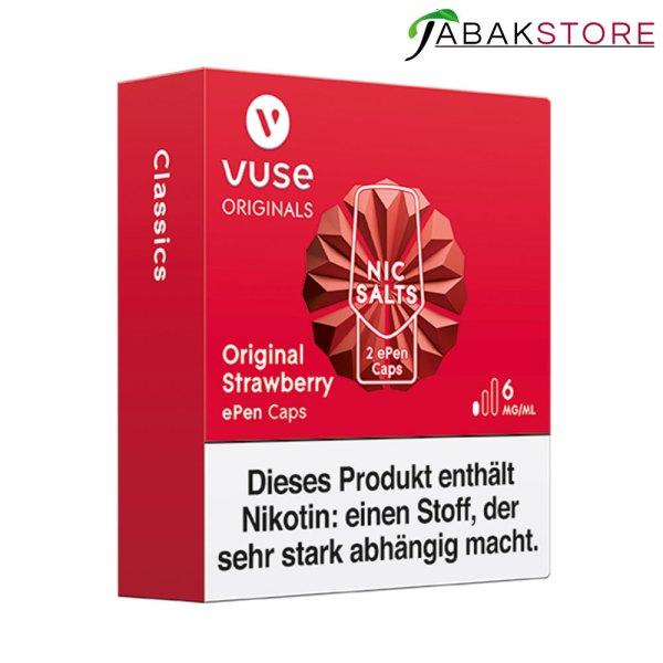Vuse-ePen-Caps-Original-Strawberry-6-mg-links-seitlich