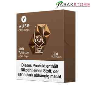 Vuse-ePen-Caps-Rich-Tobacco-6-mg-links-seitlich