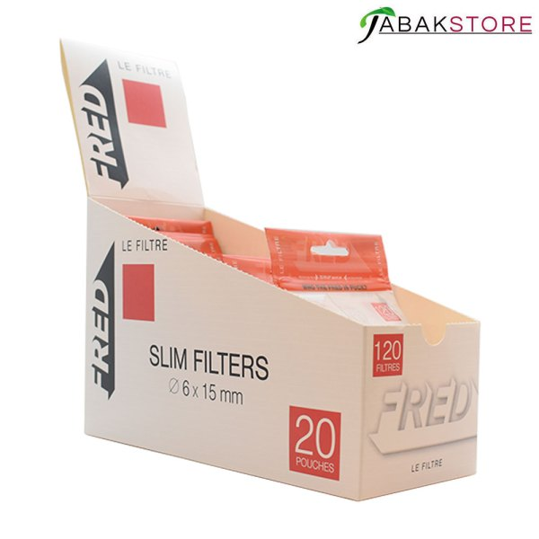 Fred-Slim-Filter-Display-offene-Packung