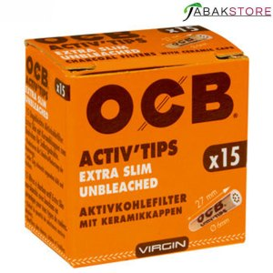 OCB-Activ-Tips Extra Slim Unbleached