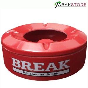break-aschenbecher-rot