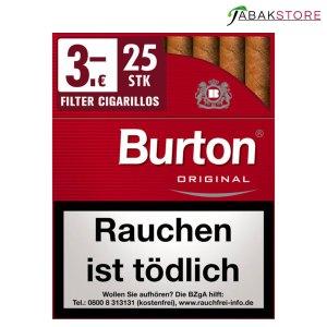 Burton Red Big Pack Zigarillos zu 3,00 Euro mit 25 Zigarillos
