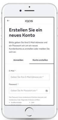 Email-Adresse-und-Passwort-eingeben-für-IQOS-Regisrierung