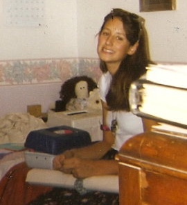 Teenage me, complete with a Caboodle beside me (for date reference purposes)