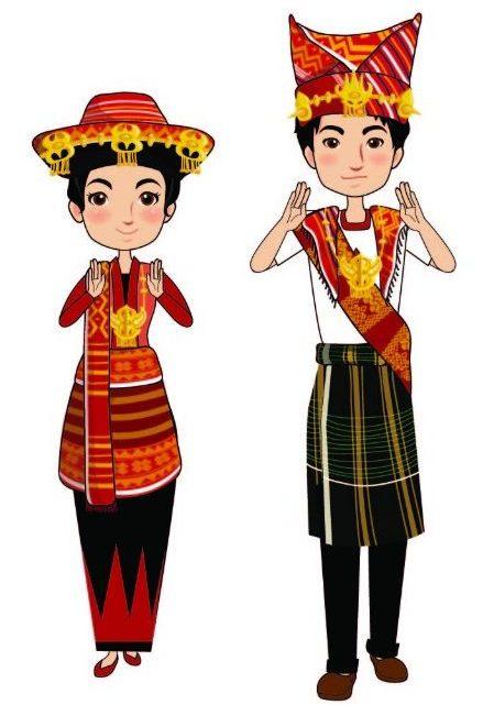 Pakaian Adat Sumatera Utara Batak Karo Simalungun