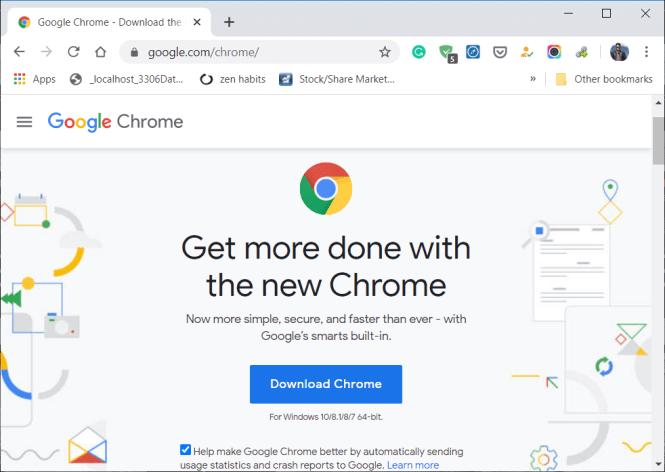 Download latest version of Google Chrome