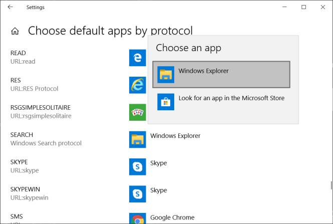 Select Windows Explorer under Choose an app