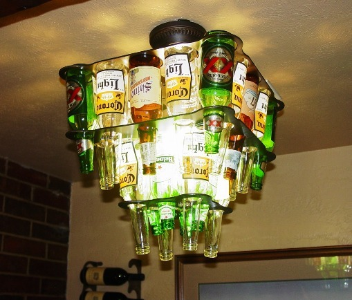 Same Chandelier With Clear Bottles