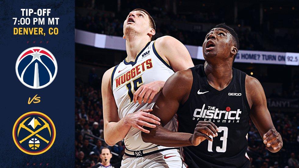 Onde a assistir a Washington Wizards x Denver Nuggets 26/11/2019 – NBA