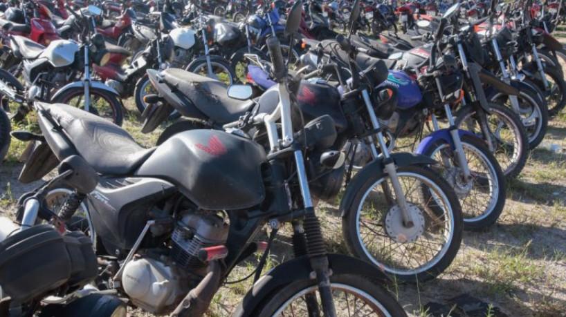 Detran realiza leilão online com 648 lotes, motos a partir de R$ 500