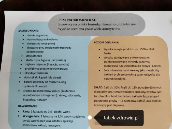 PBM Probiominerał
