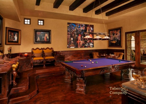 old world mediterranean furniture BILLIARDS ROOM
