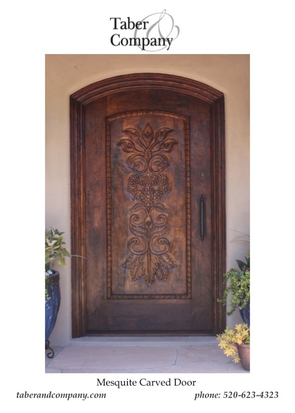 Enrty Door Mexican Hacienda Scottsdale from Taber & Company