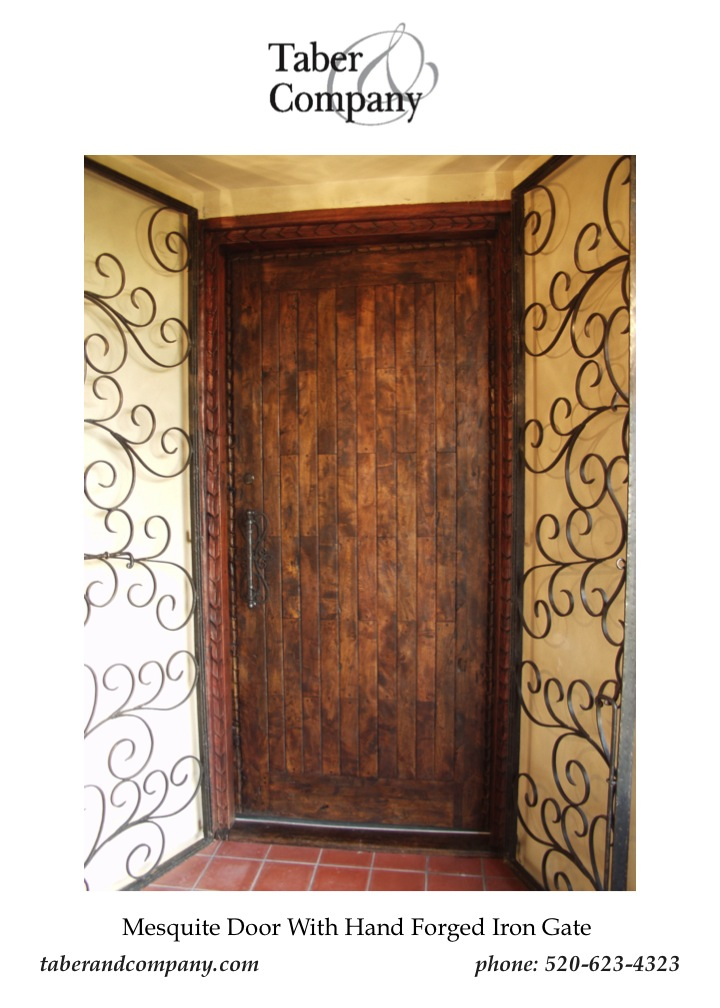 ... Taber U0026 Company Forged Iron Door Designed With A Solid Mesquite Entry  Door