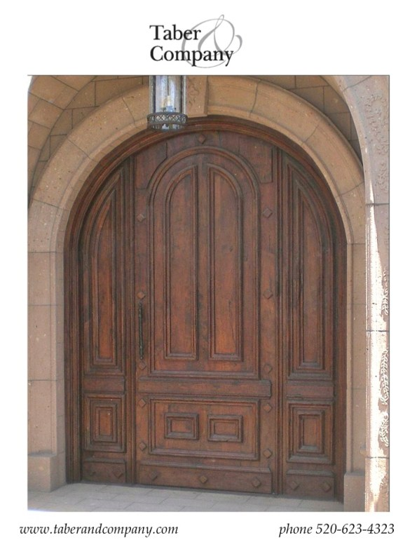 Wood Door, Solid Wood Door Old World MEditerranean Style