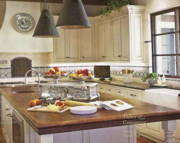 Kitchen Island Wood Top White Cabinets