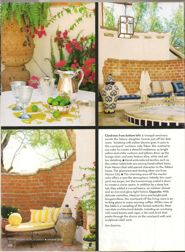 Hacienda Style Furniture Phoenix Home & Garden Issue