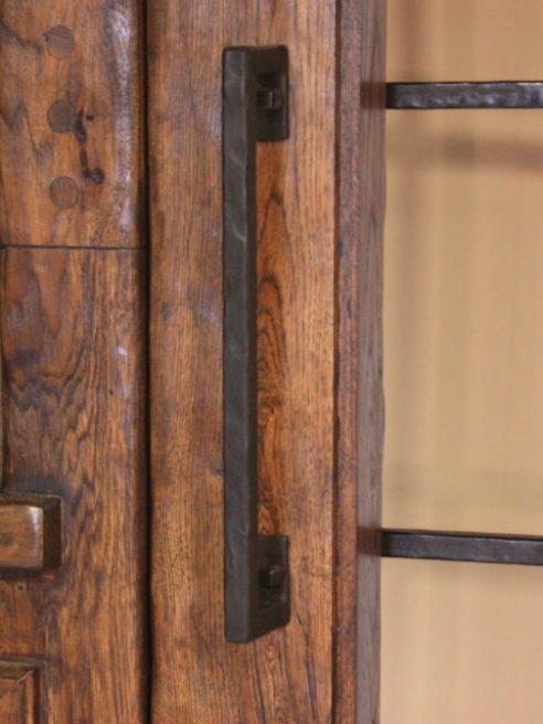 large iron door handle