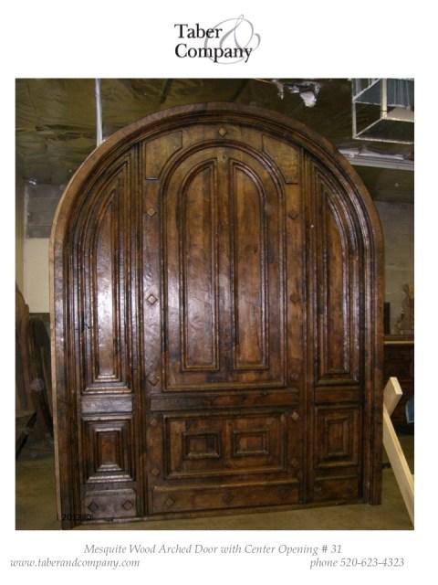 31 massive arched door mesquite wood mediterranean