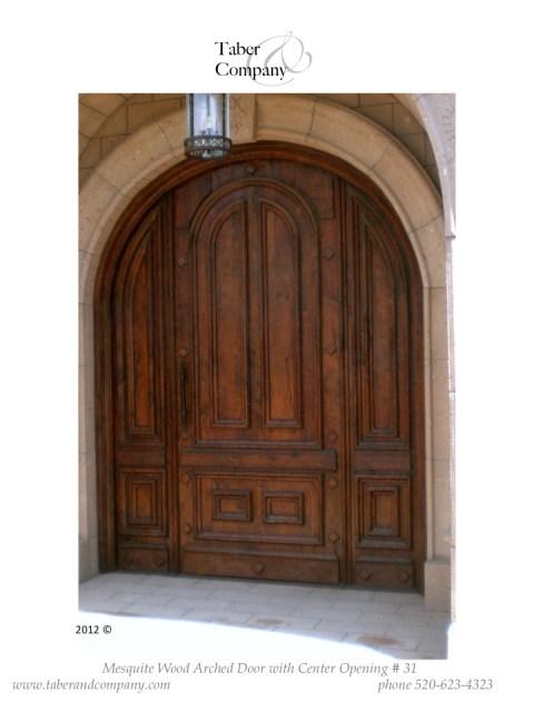 31 massive10' arched door mesquite wood mediterranean