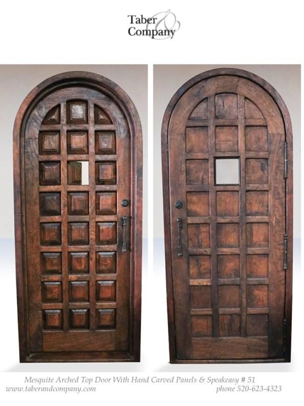 true arch spanish mediterranean style door
