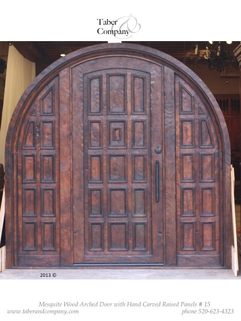 Door 15 Spanish Mediterranean True Arch Door