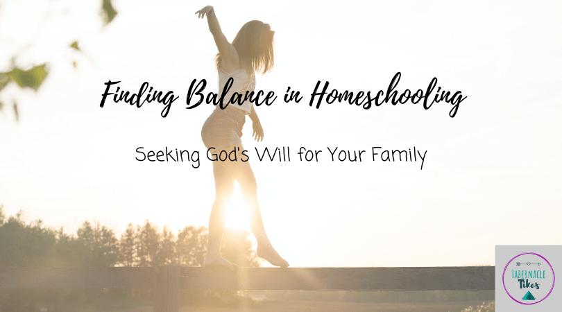 finding balance in homeschool
