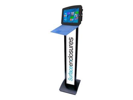 Compulocks Maclocks Space Enclosure Surface Pro 3 4 BrandMe Floor Stand 140B540GEB.jpg