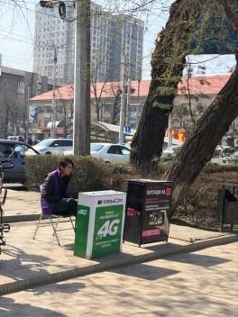 街頭でのSIMカード販売