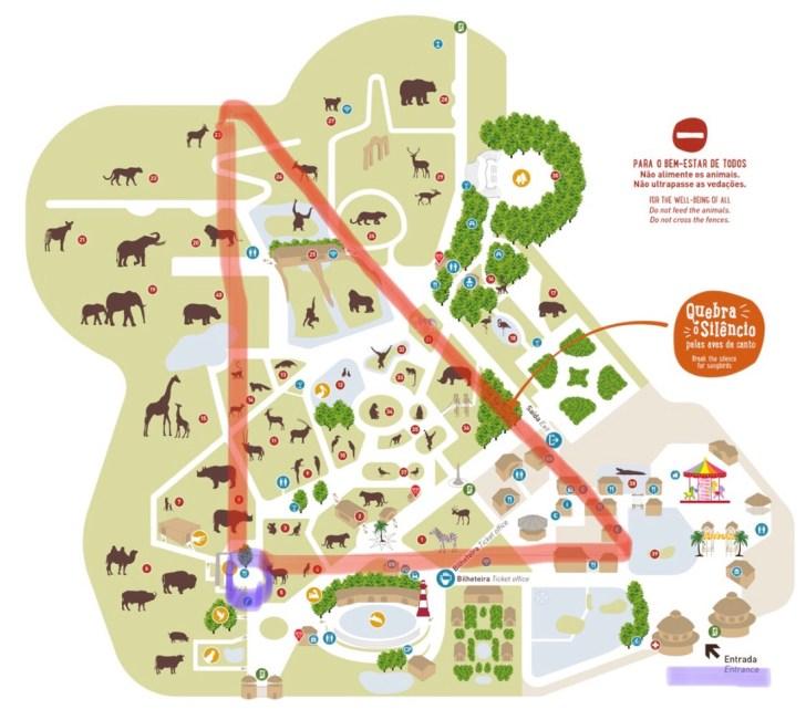 動物園内図