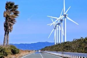 西ノ浜の風力発電(渥美風力発電所)