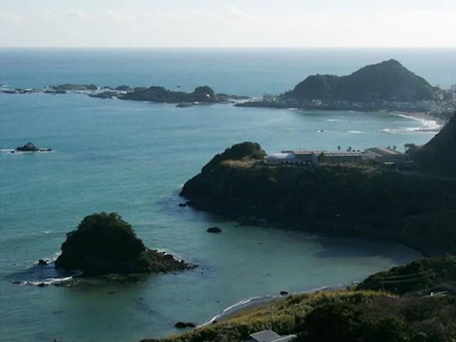 魚見塚展望台 仁右衛門島方面の眺め