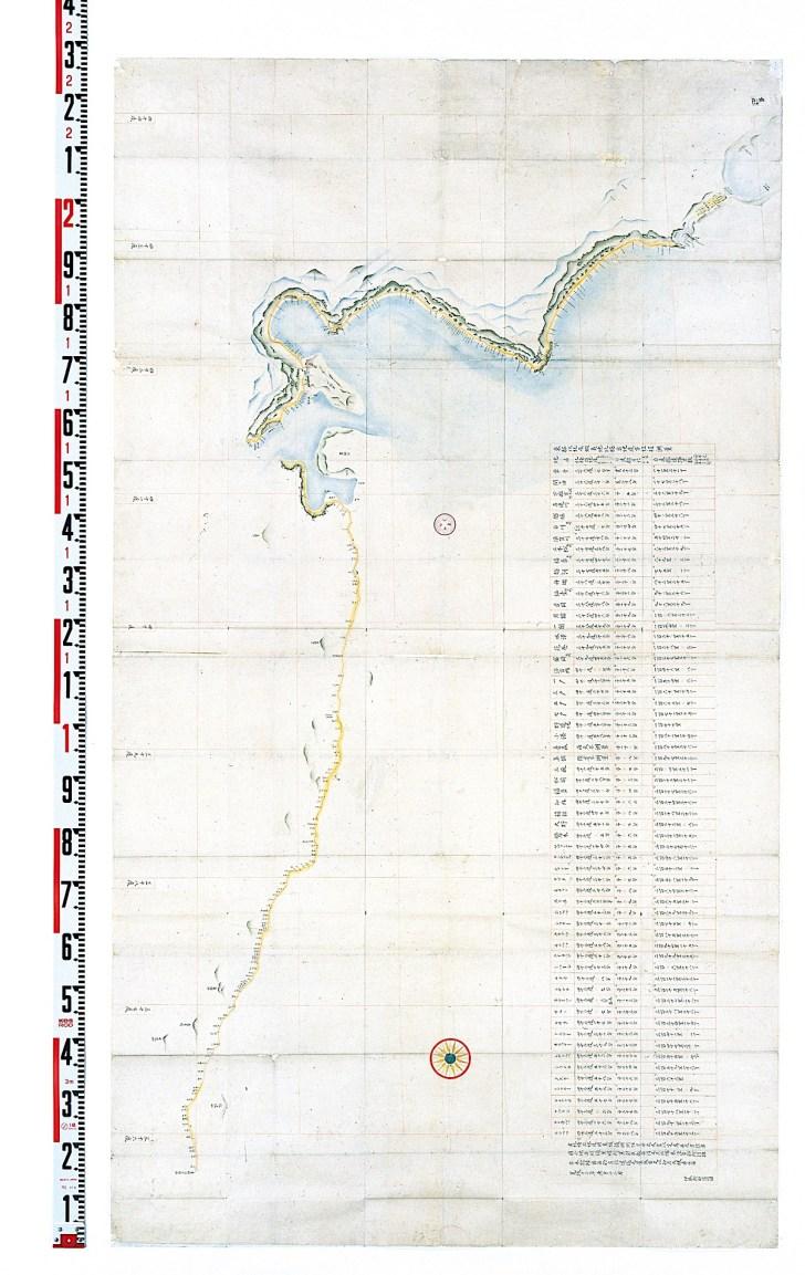 寛政十二年測量小図