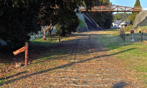 旧三池炭鉱専用鉄道敷跡