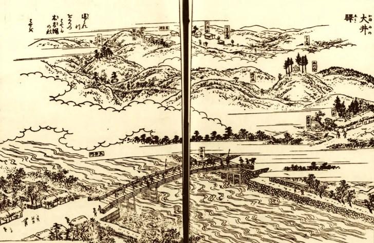 『木曽路名所図会』大井橋