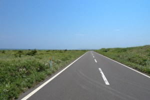 エサヌカ直線道路