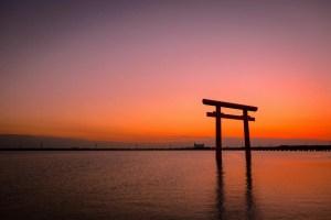 鹿島神宮・一の鳥居(北浦)